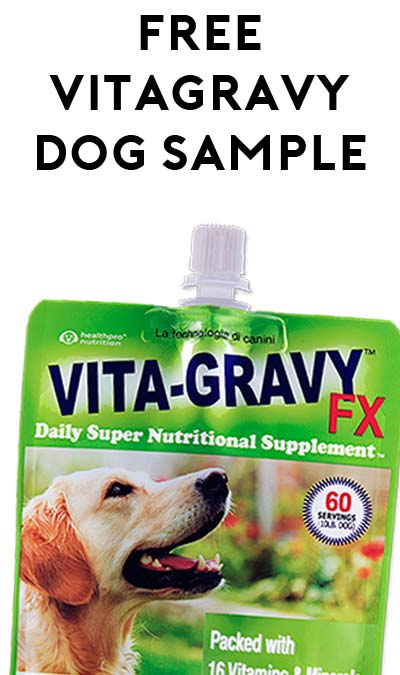 FREE VitaGravy FX Supplement For Dogs Sample