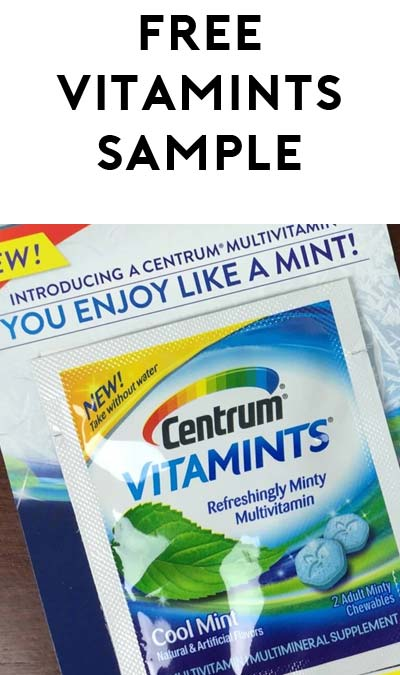 FREE Centrum VITAMINTS Refreshingly Minty Multivitamin Sample [Verified Received By Mail]