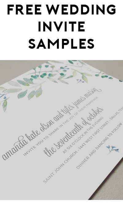 FREE Wedding Invitation Sample From Anna Malie Design