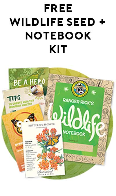 FREE Butterfly Garden Starter Kit With Seed Packet & Notebook