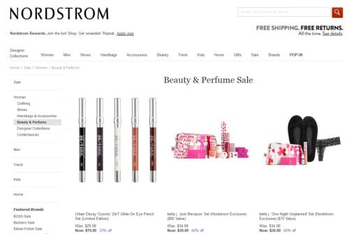 Nordstrom - where to find the best beauty discounts