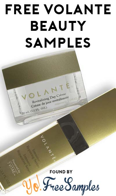 2 FREE VOLANTÉ Luxurious Daily Cleanser, Intensive Repairing Serum, Revitalizing Day Creme and Revitalizing Day Lotion Samples