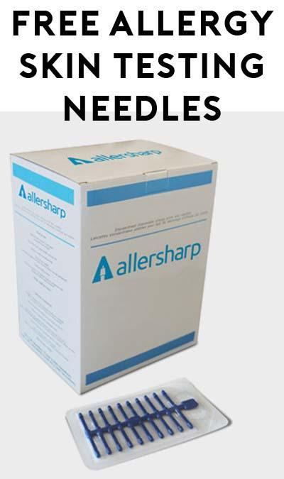 FREE Allersharp Disposable Allergy Testing Sample