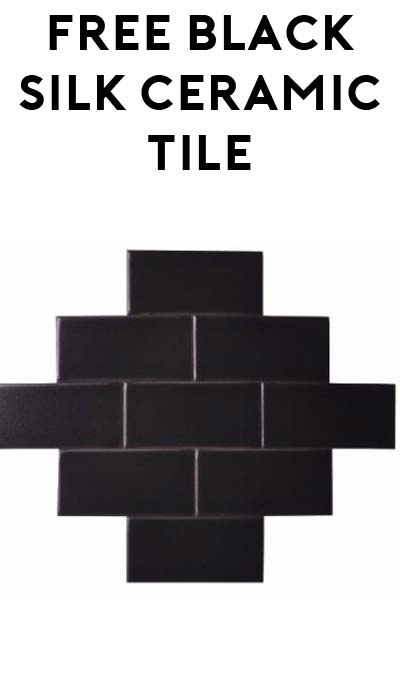 Free Black Silk Ceramic Tile Sample