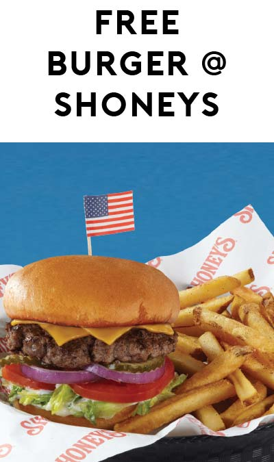 FREE Shoney's All-American Burger For Military Folks On May 30th