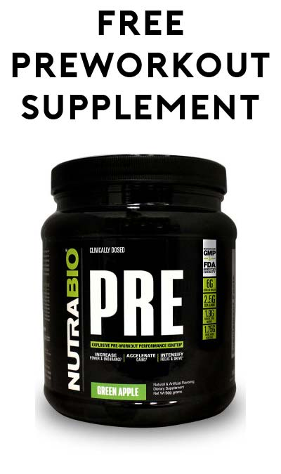 FREE NutraBio Pre Workout Supplement