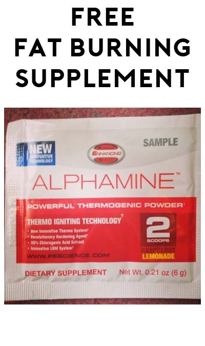 FREE PEScience Alphamine Fat Burning Supplement