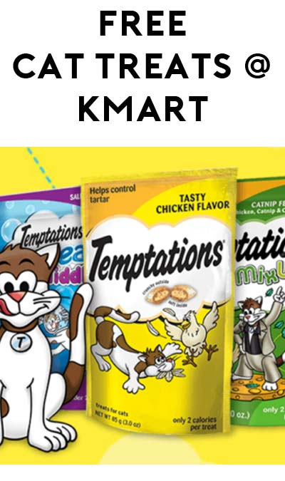 TODAY ONLY: FREE Whiskas Temptations Cat Treats at Kmart