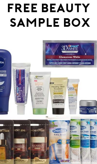 FREE Women's Skin & Oral Care Beauty Sample Box After Rebate On Amazon (Free Shipping For Prime)