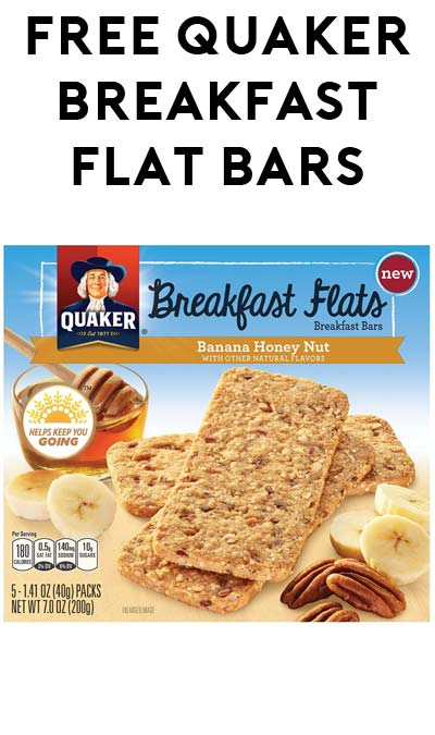 TODAY ONLY: FREE Quaker Breakfast Flat Bars At Kroger, Fry's, Ralphs, Dillons & Others