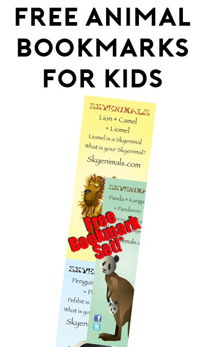 FREE Animal Bookmarks For Kids From Skyenimals