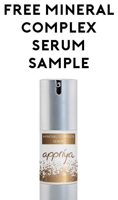 FREE Appriya Mineral Complex Serum Sample