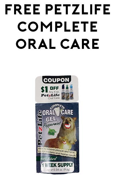 FREE PetzLife Complete Oral Care Gel At 3PM EST Today (Facebook Required / Not Mobile Friendly)