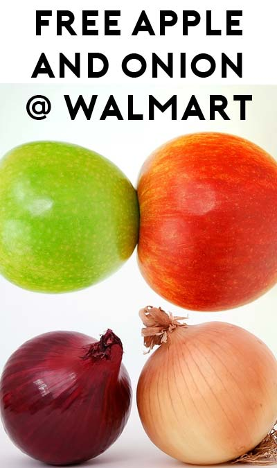FREE Apple & Onion At Walmart After Cashback App Stacking