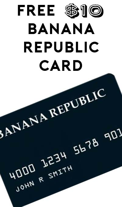 FREE $10 Banana Republic Shopcard (Sending Text Required)