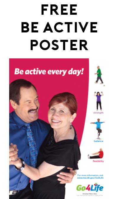 "FREE Go4Life ""Be Active Every Day!"" Poster [Verified Received By Mail]"