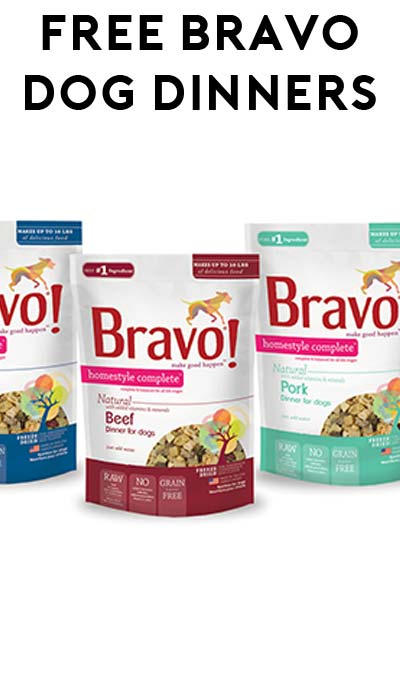 FREE Bravo Homestyle Complete Dinners for Dogs At 1PM EST Today (Facebook Required / Not Mobile Friendly)