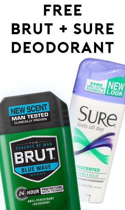 Nearly FREE Sure & Brut Deodorant at CVS (Coupon Required)