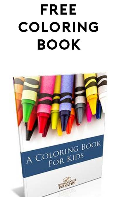 FREE Coloring Book for Kids From Shenandoah Podiatry