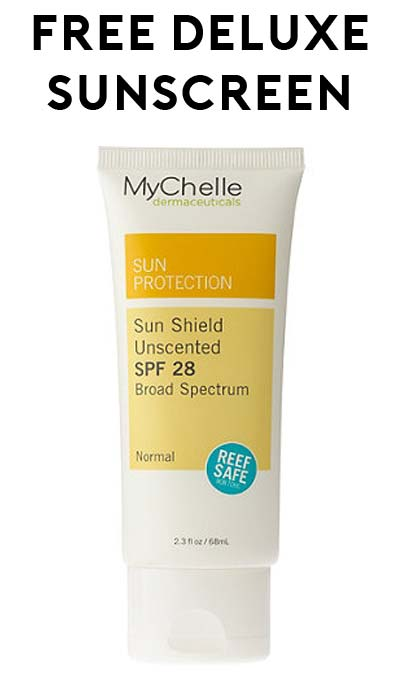 FREE MyChelle Sun Shield Unscented SPF 28 Deluxe Samples At 3PM EST For Mom's Week / TheSamplerApp (Facebook Required / Not Mobile Friendly)