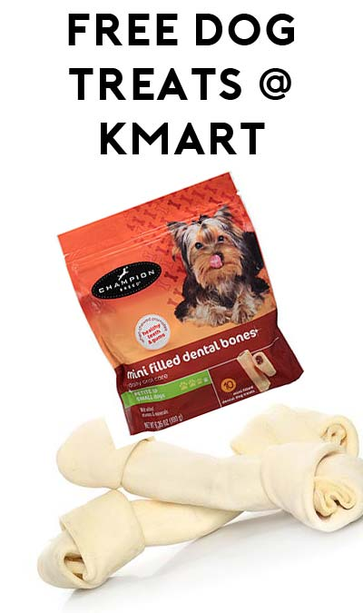 TODAY ONLY: FREE Champion Dog Treats or Rawhide Dog Bone at Kmart