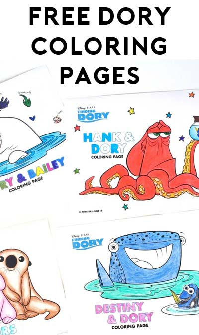 FREE Finding Dory Coloring Pages From Disney