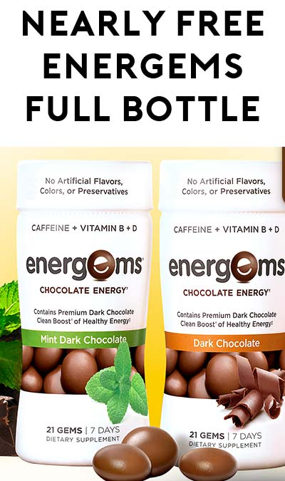 Nearly FREE Full-Size Energems 7-Day Bottle After Rebate At Walmart