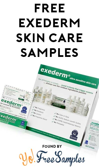 FREE Exederm Skin Care Samples Waitlist [Verified Received By Mail]