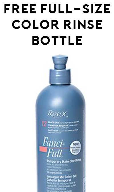 Expires Soon! FREE Full-Size Roux Fanci-Full Temporary Color Rinse Bottle