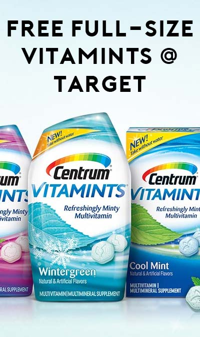 FREE Full-Size Centrum Vitamints At Target (Coupon Required)