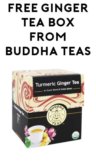 FREE Buddha Turmeric Ginger Tea Boxes At 3PM EST For Mom's Week / TheSamplerApp (Facebook Required / Not Mobile Friendly)