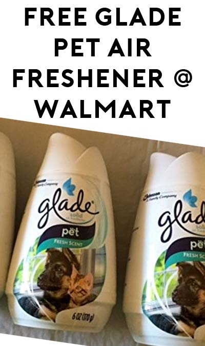FREE Glade Pet Air Freshener at Walmart (& Make 28 Cents)