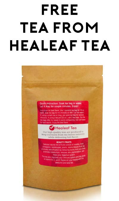 2 FREE Tea Bags From Healeaf Tea