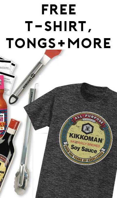 FREE Kikkoman Grilling $25 Gift Card, T-Shirts, Tongs & More (Apply To Host Party)