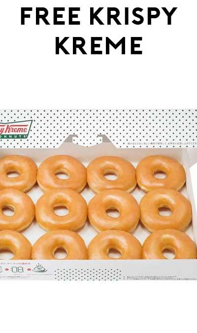 TODAY ONLY: FREE Krispy Kreme Donut