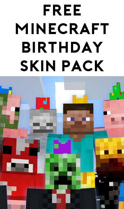 5th Pack Added: FREE Minecraft Birthday Skin Pack For Xbox One / Xbox 360