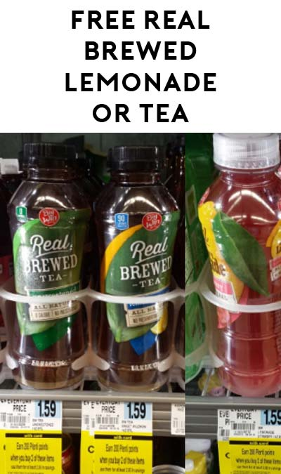 6 FREE Big Win Real Brewed Lemonade Or Tea From Rite Aid