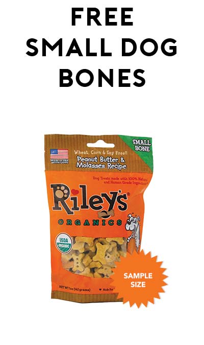 FREE Riley's Peanut Butter & Molasses Small Bones At 1PM EST Today (Facebook Required / Not Mobile Friendly)