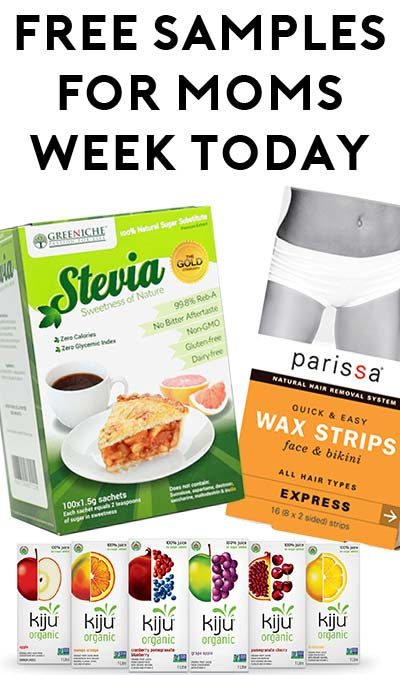FREE Parissa Natural Hair Removal, Greeniche Gold Standard Stevia Sachets or Kiju Organic Juice For Mom's Week Today (5/6)
