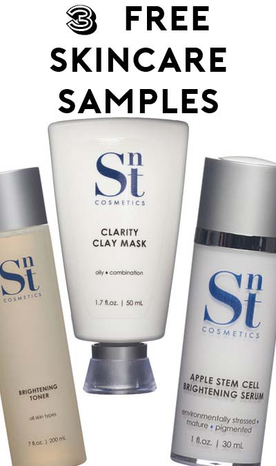 3 FREE Cleanser, Mask, Gel Or Creme Samples From SNT Cosmetics Using Code SPRING2016