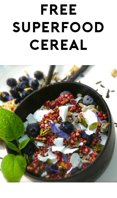 FREE The Crown Chakra Superfood Cereal Sample