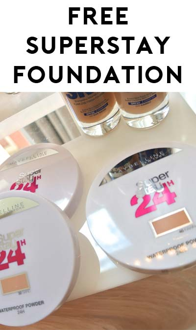 FREE Maybelline SuperStay 24-Hour Waterproof Foundation (6 Survey Questions)