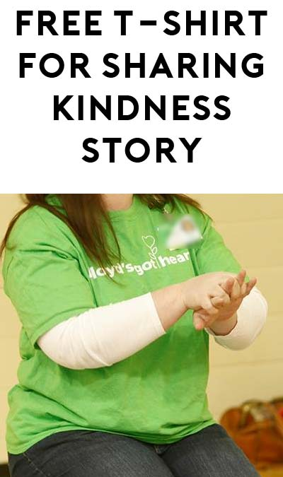 "FREE ""Floyd's Got Heart"" T-Shirt For Telling Kindness Story"