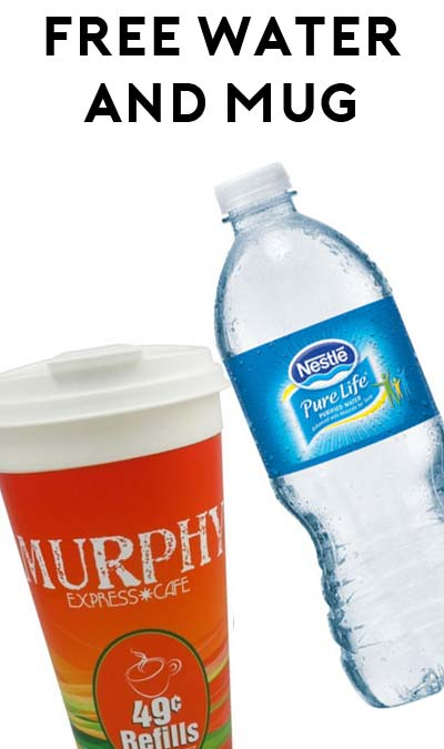 FREE 20 oz Pure Life Water + 24 oz Hot Beverage Mug At Murphy USA Locations (Redeem In Store)