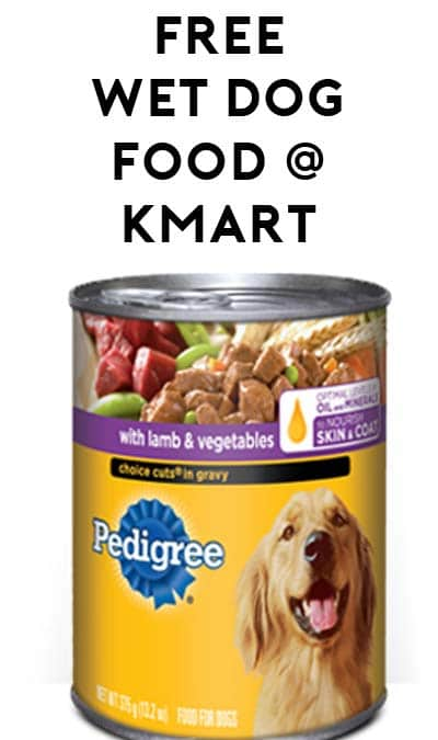 TODAY ONLY: FREE Pedigree Wet Dog Food at Kmart