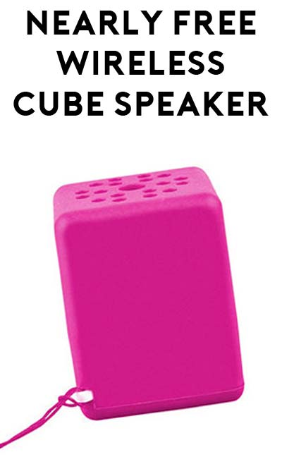 DEAL ALERT: 100% OFF Quickcell Wireless Bluetooth Sound Cube Portable Speaker ($4.99 Shipping Required)