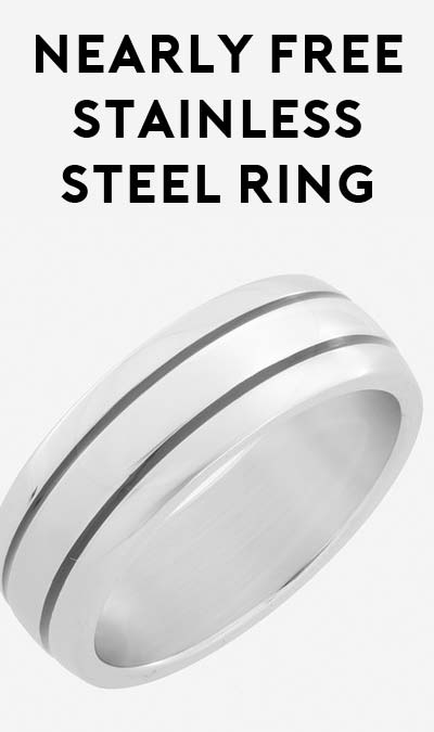 DEAL ALERT: 100% OFF 8mm Stainless Steel Ring with Double Groove ($4.00 Shipping Required)