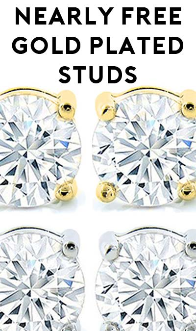 DEAL ALERT: 100% OFF Swarovski Element Gold Plated Studs ($4.99 Shipping Required)