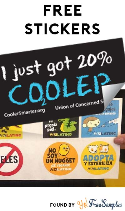 "2 FREE Stickers Today: Peta Latino Stickers & ""I Just Got 20% Cooler"" Sticker"