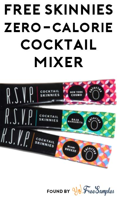3 FREE Skinnies Zero-Calorie Cocktail Mixer Samples